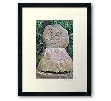 Colombia - San Agustin - 30 Rock Stone God Framed Print