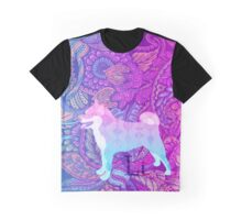 Vaporwave Dog Full Doggo Aesthetic Graphic T-Shirt