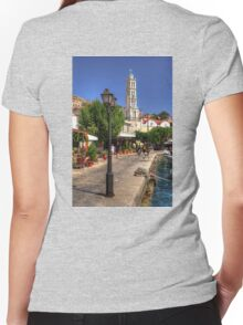 Harbour Walkway Women's Fitted V-Neck T-Shirt