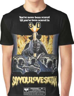 Say You Love Satan 80s Horror Podcast - House of Wax Graphic T-Shirt