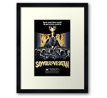 Say You Love Satan 80s Horror Podcast - House of Wax Framed Print
