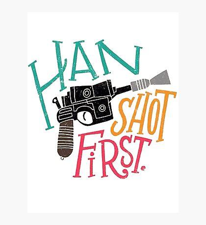 Star Wars - Han Shot First Photographic Print