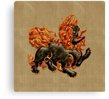 Chinese Dragon Dog Canvas Print