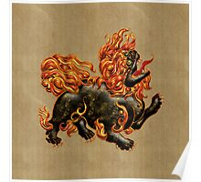 Chinese Dragon Dog Poster