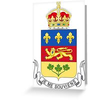Quebec Coat of Arms Greeting Card
