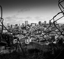 San Franciso through a Fence by Justharry
