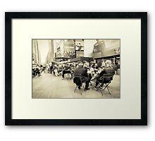 times square new york city  Framed Print