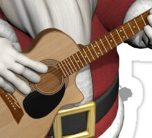 Santa Claus Plays Accoustic Guitar Sticker