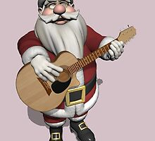 Santa Claus Plays Accoustic Guitar by Mythos57