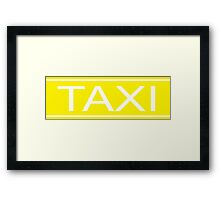 Taxi sign Framed Print