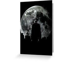 Batman Moon Silhouette Greeting Card