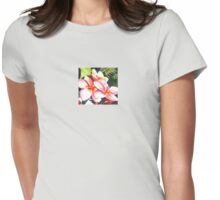 Pink Plumeria Heaven Scent Womens Fitted T-Shirt
