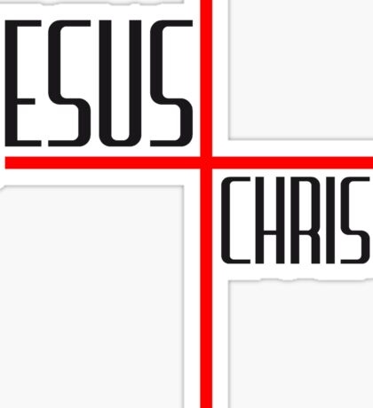 christ kreuz logo design cool text schriftzug jesus christus  Sticker