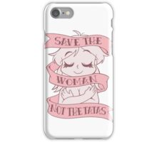 Save the Woman iPhone Case/Skin