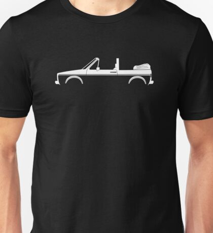 Car silhouette for VW Golf / Rabbit Mk1 convertible enthusiasts Unisex T-Shirt