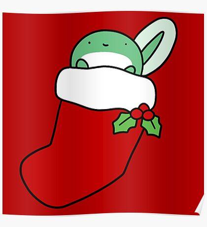 Christmas Stocking Tadpole Poster