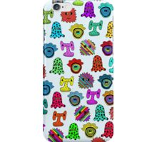 pattern with monsters iPhone Case/Skin