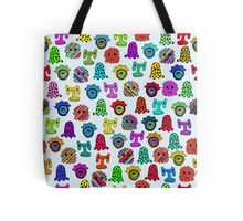 pattern with monsters Tote Bag