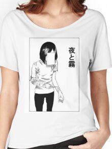 deep cut (WHITE) Women's Relaxed Fit T-Shirt