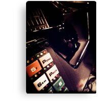 Retro Styled Photos Of My Knight Rider Dash 07 Canvas Print