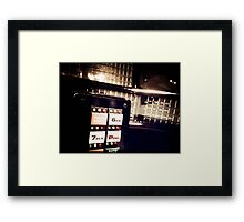Retro Styled Photos Of My Knight Rider Dash 09 Framed Print