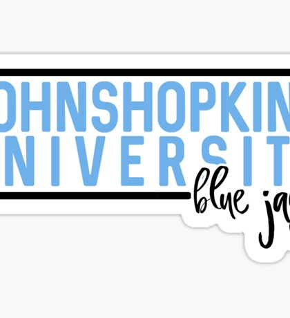 Johns Hopkins University - Style 10 Sticker