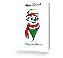 Frosty the Snowcone Greeting Card