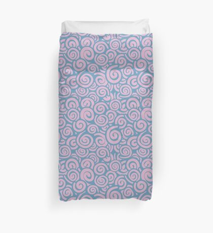 Conceptual Swirls in Lavender and Rose Duvet Cover