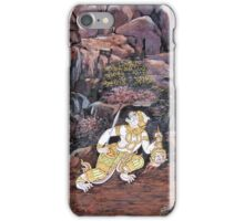 Hanuman from the wall of the Grand Palace in Bangkok iPhone Case/Skin