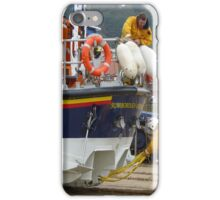 Lifeboat on the beach iPhone Case/Skin
