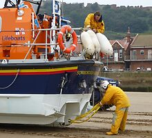 Lifeboat on the beach by Sue Gurney