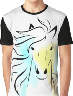 Beautiful Cute Colorful Horse - Animals Art Shirts And Gifts Collection Graphic T-Shirt