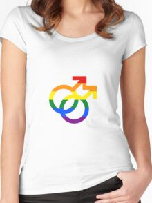Gay Pride! Women's Fitted Scoop T-Shirt