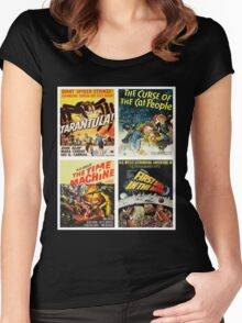 Sci-fi Movie Poster Art Collection #8 Women's Fitted Scoop T-Shirt