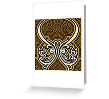 ornament shaped curved lines and abstract Greeting Card