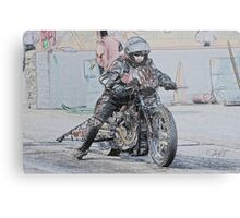 Harley Drag Bike I Metal Print