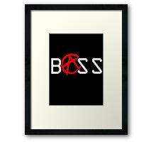 ANARCHY!-well, BASS anyway Framed Print