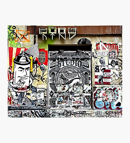 Spray Can Man Photographic Print