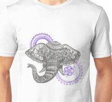 Henna Inspired Elephant Unisex T-Shirt