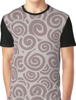 Conceptual Swirls in Mocha and Brown Graphic T-Shirt
