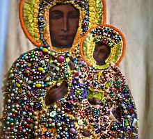 The Black Madonna of Czestochowa. Queen of Poland. Views: 5401 .Has been SOLD ! Promotor Fidei. by © Andrzej Goszcz,M.D. Ph.D