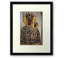 The Black Madonna of Czestochowa. Queen of Poland. Views: 8650..Has been SOLD ! Promotor Fidei. Framed Print