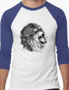 Lion illustration Men's Baseball ¾ T-Shirt