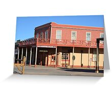 Crystal Palace - Tombstone Az.  Est. in 1800's Greeting Card