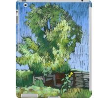 An old willow in a Russian village. Summer iPad Case/Skin