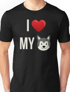 I Love My Husky - Siberian Husky Puppy Dog Face Unisex T-Shirt