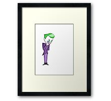 Joker/No Background Framed Print