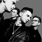 Depeche Mode : 90's Dave, Alan, Martin, Andy Digitalpaint 3 by Luc Lambert