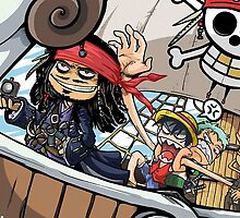 one piece pirates of the caribbean by musmus92