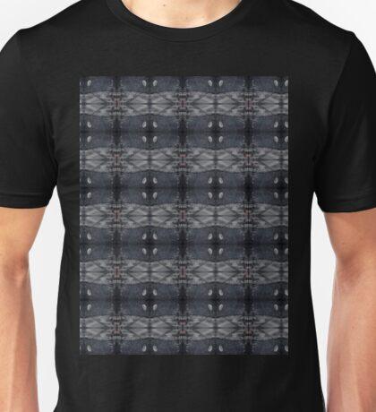 peaceful snowy night chalkboard scene pattern Unisex T-Shirt